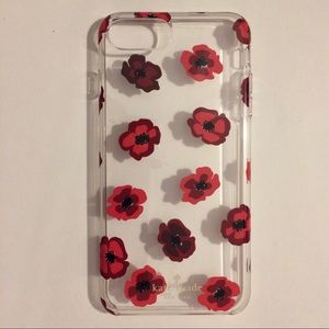 kate spade coral flowers cover iPhone 6+, 7+, 8+